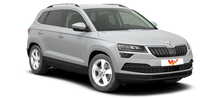 renting coche skoda karoq 2 0 tdi 110kw 150cv dsg 4x4. Black Bedroom Furniture Sets. Home Design Ideas